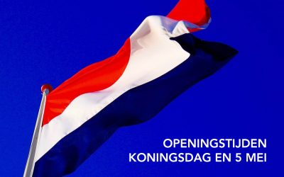 Openingstijden Koningsdag en 5 mei