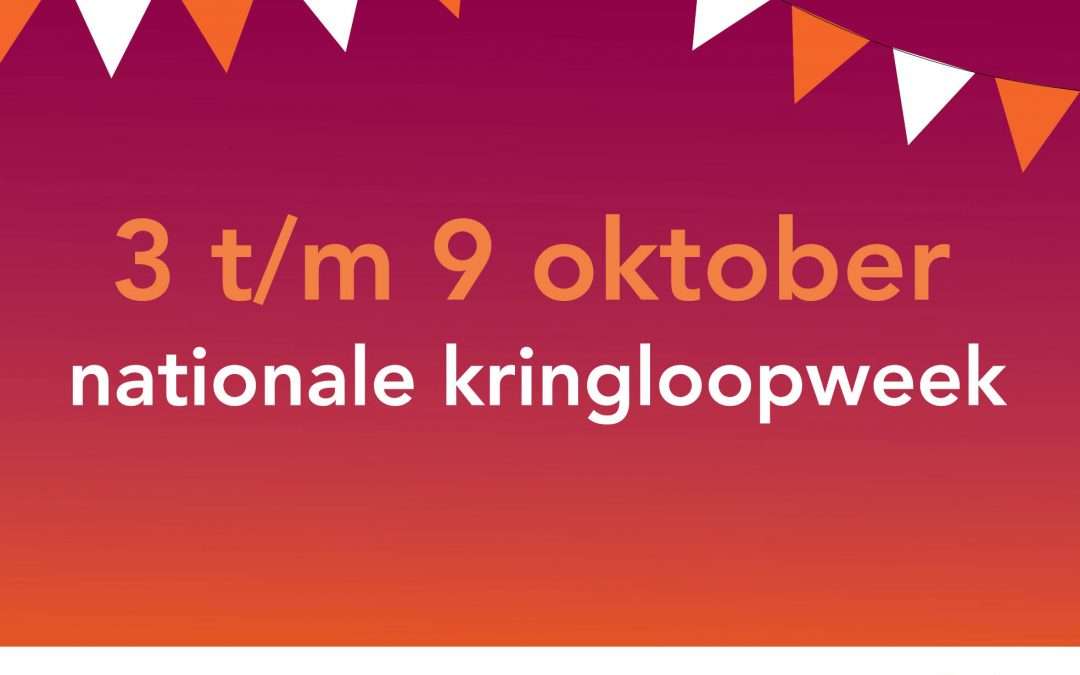 3 oktober, start van de Nationale Kringloopweek