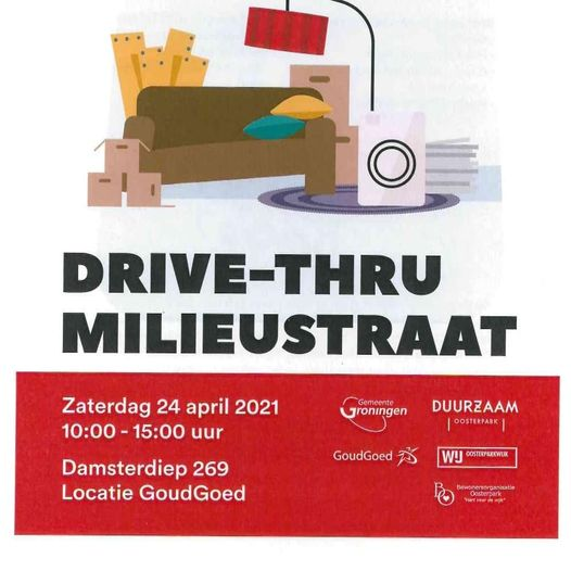 Eerste Drive-Thru Milieustraat op 24 april